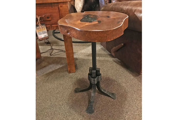 Gentry Mesquite Side Table With Onyx Inlay