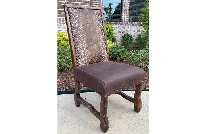 Ivory Floral Gator Dining Chair