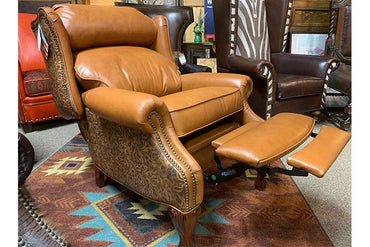 Alejandra Wingback Recliner - Guanaco Leather
