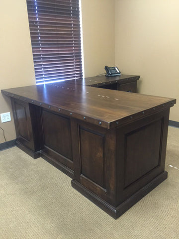 L-Shaped Alder Desk