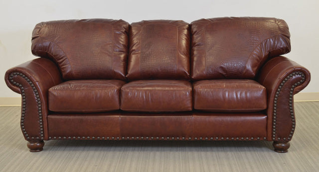Midland Sofa With Gator Embossed Leather