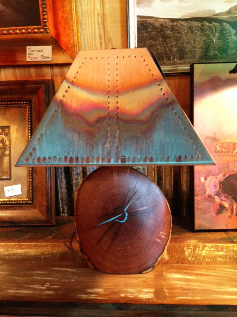Mesquite Turquoise Inlay Lamp