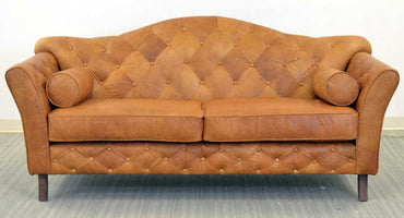 Memphis Tufted Leather Sofa