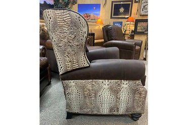 Montana Tufted Leather Push Back Recliner