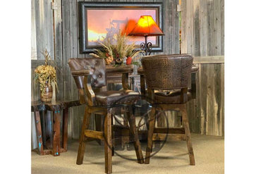 Chisum Barstool with Tuscany Leather and Gator