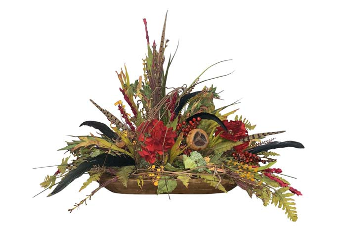Berry Dough Bowl Floral Arrangement