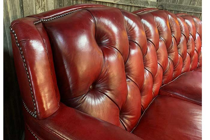 Torro Red Leather Sofa