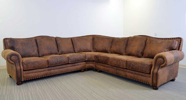 Katy Distressed Leather Sectional