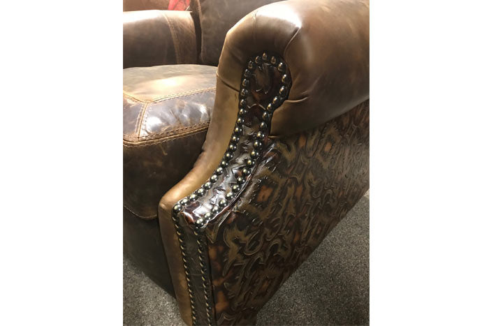 Ronelo Tooled Leather Recliner