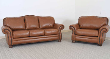Russel Leather Sofa