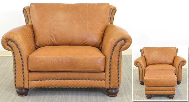 San Angelo Leather Chair and a Half