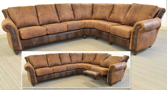 San Angelo Leather Sectional