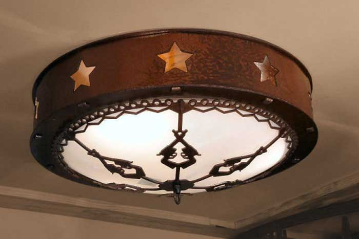 "18"" Texas Star Ceiling Light"