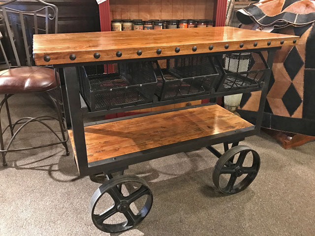 Rustic Industrial Cart