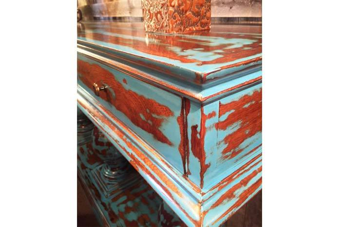 Tesla Turquoise Console Table