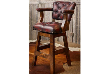 Chisum Barstool with Torro Red Leather