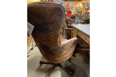 Tufted Office Chair with Cowhide