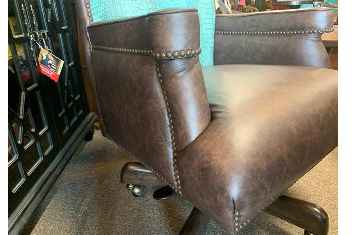 Rustic Croc Leather Chair