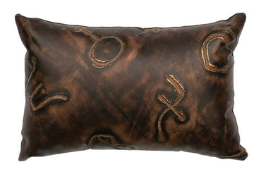 Brands Kidney Leather Pillow