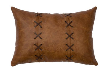 Leather Pillow with Lacing