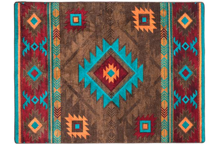 Whiskey River Turquoise Rug