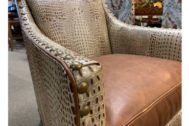 Winchester Gator Leather Accent Chair