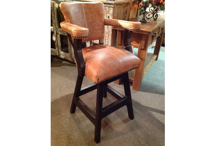 Maribel Bar Chair - Gator Leather