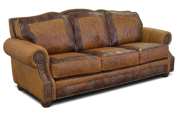 Almont Rustic Leather Sofa