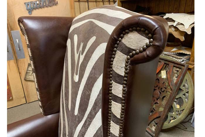Rustic Wingback Chair