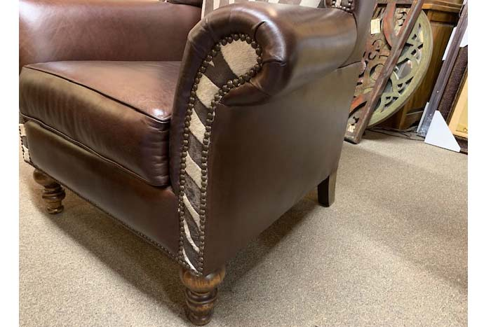 Rustic Cowhide and Leather Chair