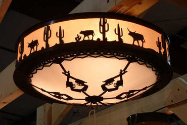 "Desert 18"" Flush Ceiling Light"