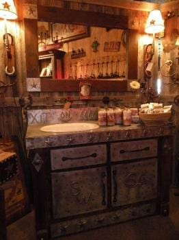 Texas Tin Top Vanity (Small)