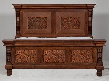 Tooled Leather Bed