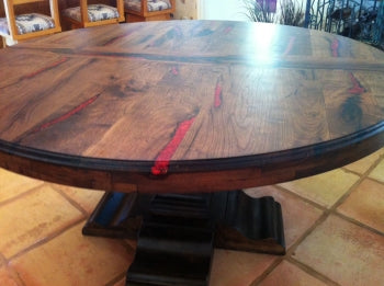 Mesquite Dining Table (w/ Red Coral)