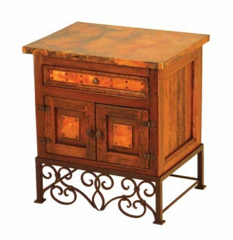 Copper-Top Emily Nightstand