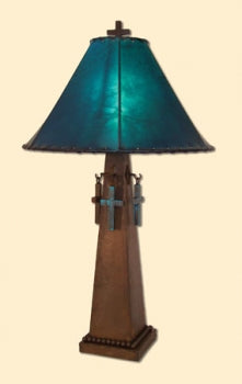 Patina Cross Lamp 2