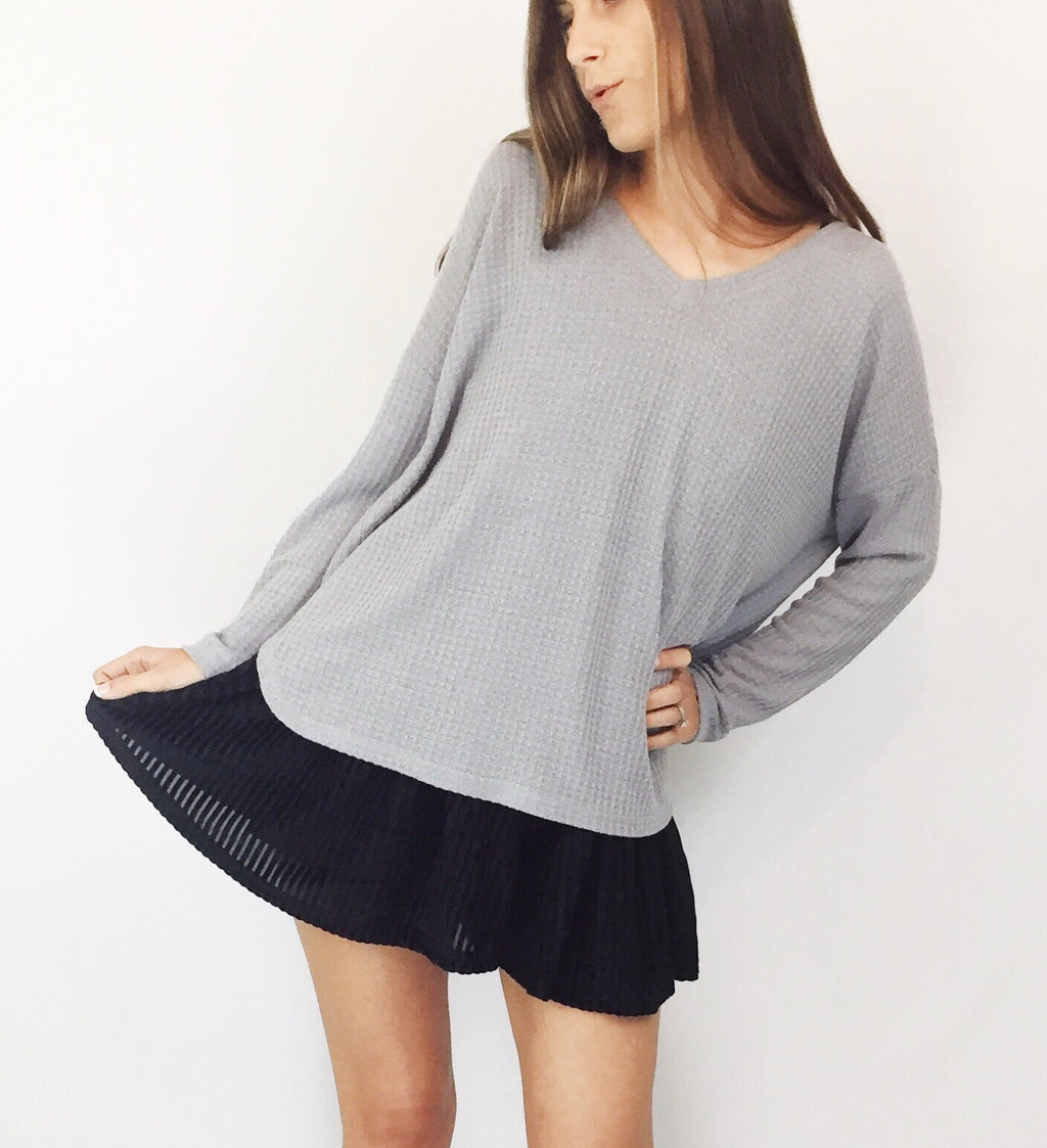 Cloudy Days Knit Top