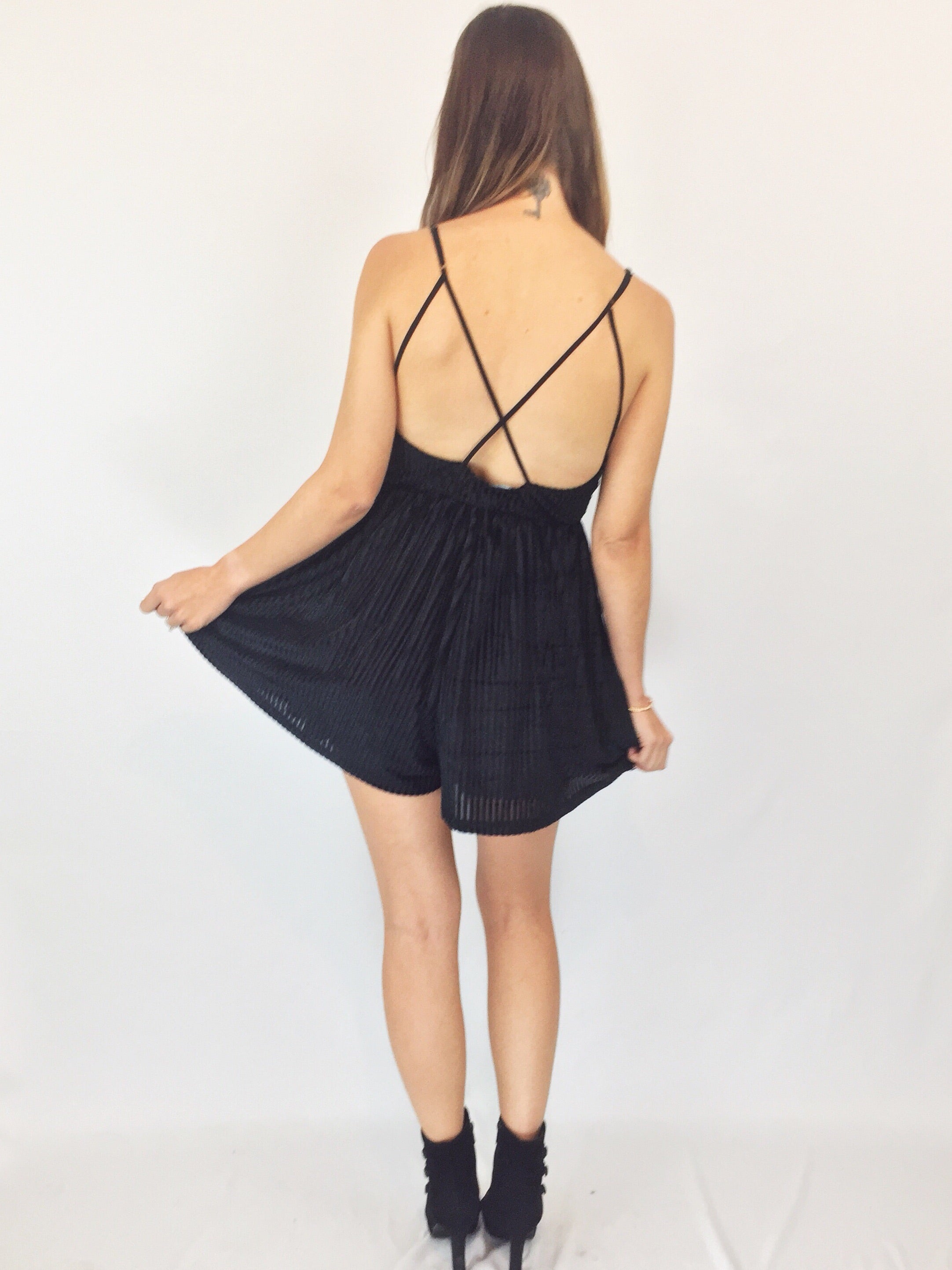 Girls Night Out Romper | Black