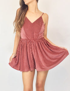 Girls Night Out Romper | Antique Rose