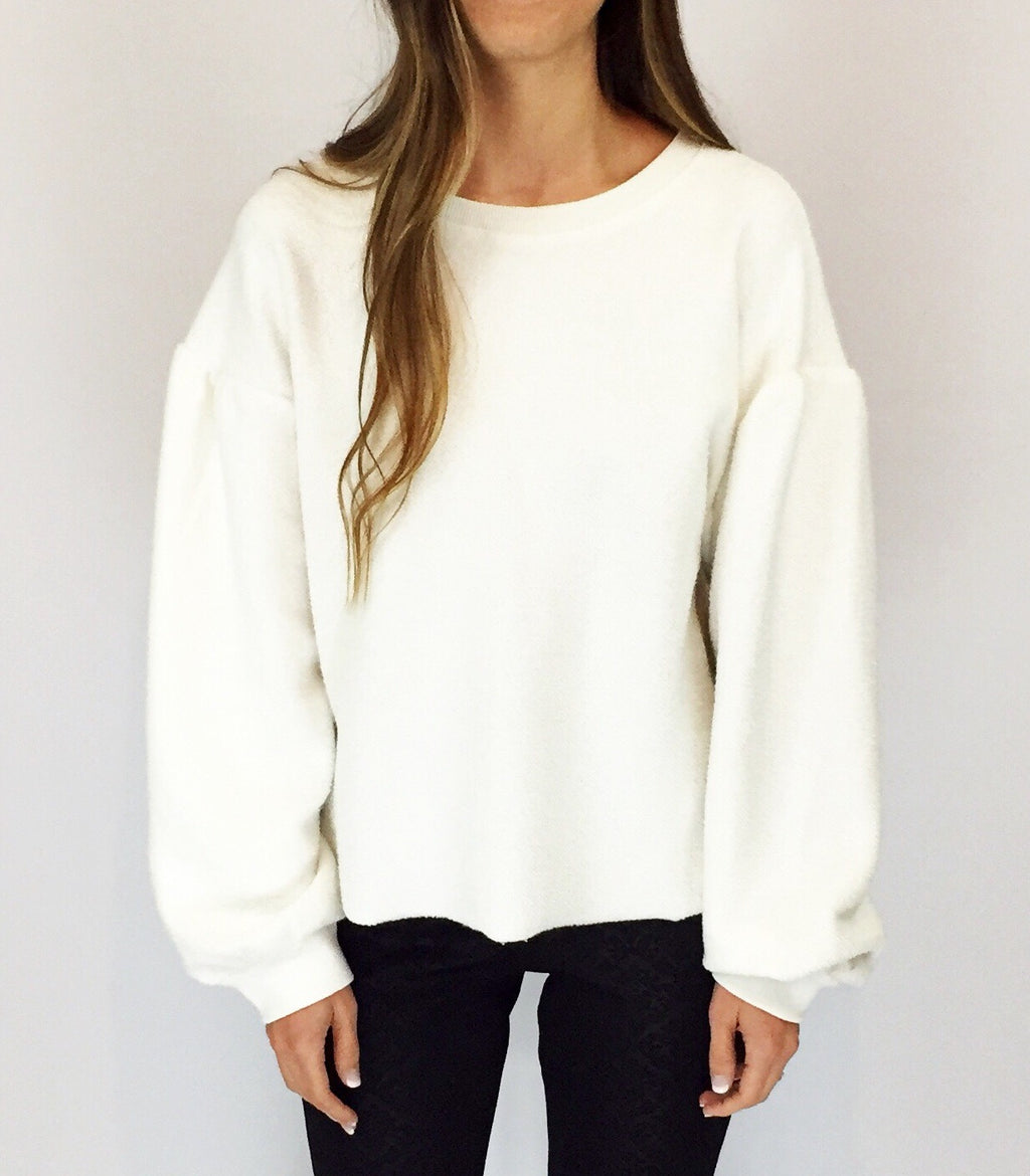 Day Date Puff Sleeve Sweater
