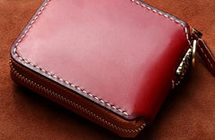 Handmade Leather Mens Chain billfold Biker Wallet Cool Leather Wallet Small Wallets for Men