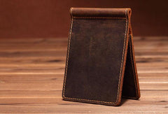Slim Mens Leather Wallet billfold Wallet Slim Bifold Small Wallet with Money Clip For Men