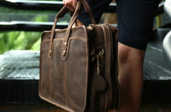 Vintage Leather Mens Large Travel Bags Handbags Shoulder Bags for men