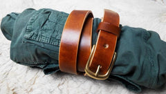 Handmade Leather Brown Mens Belt Leather Belt for Men