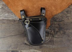 Leather Belt Pouch Mens Small Cases Waist Bags Hip Pack Belt Bags Fanny Pack Bumbag for Men