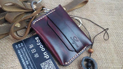Handmade Leather Mens Small Front Pocket Wallet Leather Card Wallets for Men