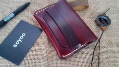 Handmade Leather Mens Slim Small Wallet Leather Card Wallets for Men