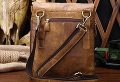 Cool Leather Mens Small Side Bag Messenger Bag Shoulder Bag for Men