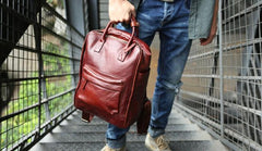 Cool Leather Mens Backpacks Travel Backpack Laptop Backpacks for men