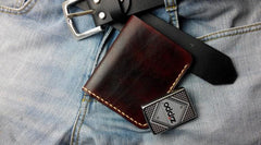 Cool Vintage Leather Mens Bifold Small Wallets Leather Small Wallets for Men